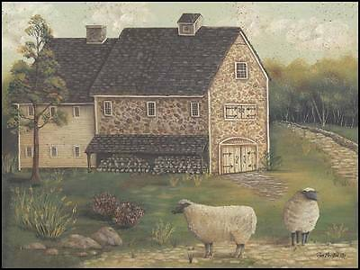 Village Welcome Framed or Plaque by Pam Britton BR224 Art Print