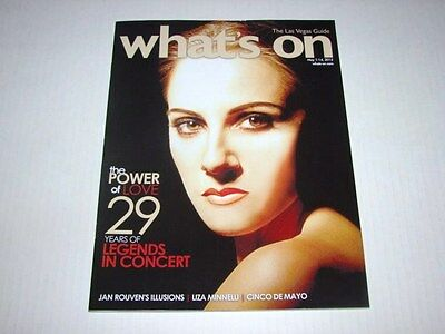 Whats On Vegas Magazine Legends In Concert Celine Dion Impersonator Issue NEW