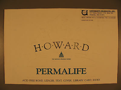 Paper Specimen of Howard Permalife