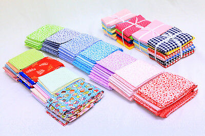 Fat Quarter 100% Cotton Sewing Patchwork Quilting Craft Gift Mixed Fabric Bundle