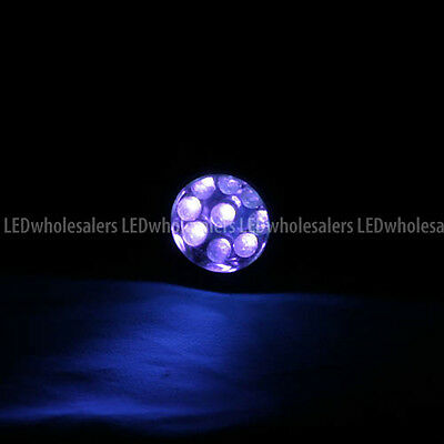 Wholesale 400nm UV Ultra Violet 9-LED 3xAAA Blacklight Flashlight (12-Pack)