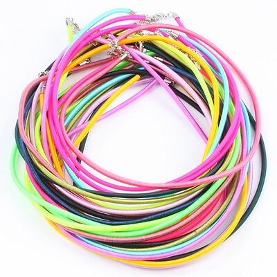 Wholesales Adjustable Handmade Cord Silk Lobster Clasp Chain Necklace Rope 3mm
