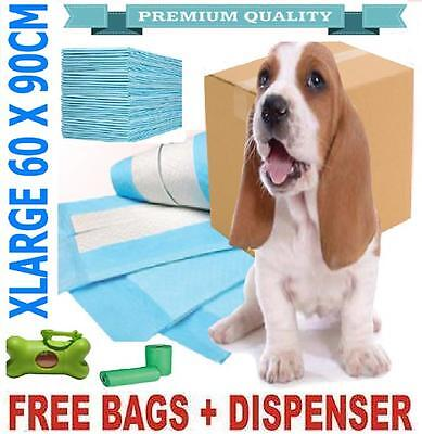 100 x PUPPY DOG TRAINING PEE WEE PADS 60 x 90CM MAT HOUSE TRAINER PET X LARGE XL