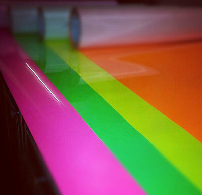 A4 1m ROLL FLUORESCENT NEON FLEX T-SHIRT VINYL HEAT PRESS VINYL TRANSFER PAPER