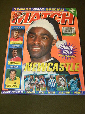 MATCH - ANDY COLE NEWCASTLE - Dec 24 1994