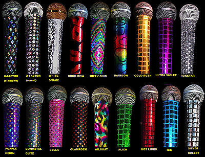 KARAOKE MICROPHONE COVER SKINS SPARKLE MIC COVER BLING MICROPHONE COVERS