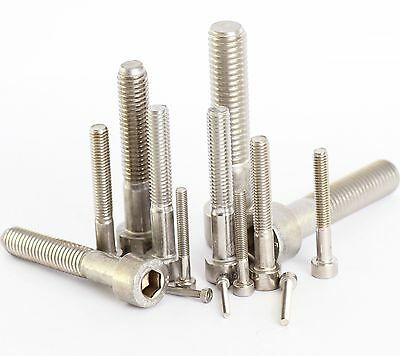 5 Pack Stainless Allen Bolt Cap Screw M2 M2.5 M3 M4 M5 M6 M8 M10