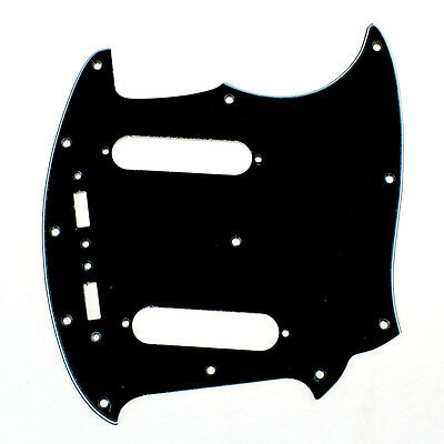 (A69) Custom Guitar Pickguard Fits Mustang Classic Series style ,3ply Black