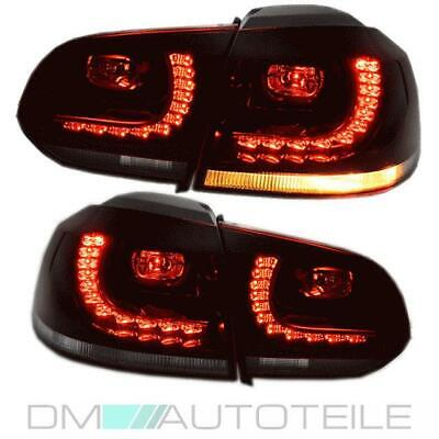 VW Golf 6 VI LED Rückleuchten Heckleuchten Set Rot Smoke GTI R Look Komplett LED