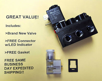 ARO A212SS-120-A Solenoid Air Control Valve; FREE Connector, Gasket & Shipping!!
