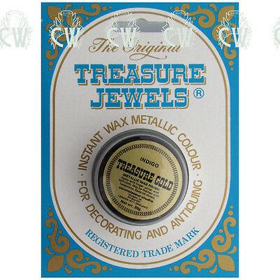 Treasure Jewels Metallic Gilding Wax 20gm INDIGO BLUE. Rich Lustrous Gilding Wax