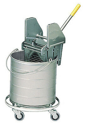 "Royce Rolls #428 Stainless Steel 8-Gallon Bucket and Wringer Combo on 3"" Casters"