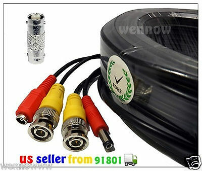 Zmodo Qsee Swann 4x Black 165 ft Power /& Video Cable for Security CCTV use