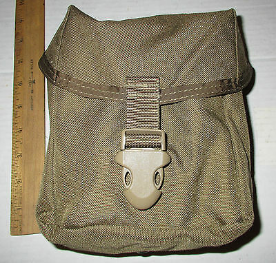 US Army Military Surplus MOLLE Indiv First Aid Pouch IFAK Coyote wth Tan Buckle