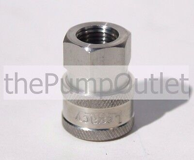 """1/4"""" FPT x 1/4"""" Female Quick Connect Socket Stainless Steel * Pressure Washer"""
