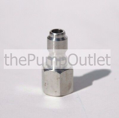 "1/4"" FPT x 1/4"" Male Quick Connect Stainless Steel Pressure Washer Fitting .25"