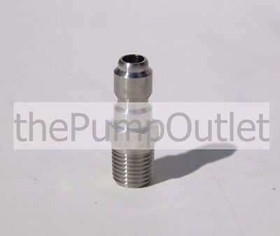 "1/4"" MPT x 1/4"" Male Quick Connect Plug Stainless Steel Pressure Washer Fitting"