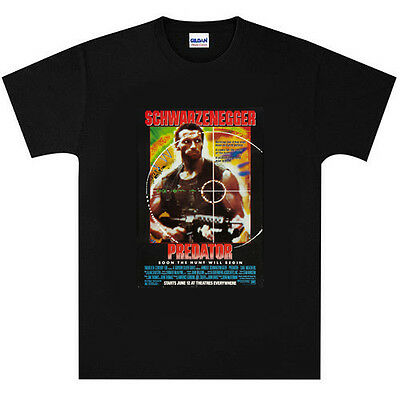 Arnold Schwarzenegger Predator T Shirt New Black or White