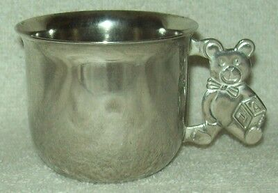 Vintage Godinger Silverplate Baby/Childs Cup w/Teddy Bear Handle