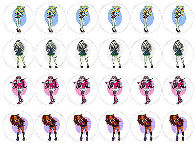 Monster High 2 Cupcake Edible Icing Party Cake Topper Decoration Image Custom