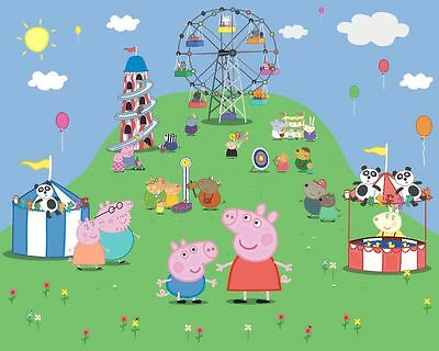 PEPPA PIG 2  Edible Icing Party Cake Topper Decoration Image Custom