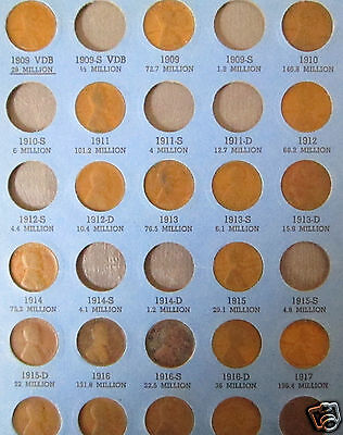 1909-1987 Lincoln Penny Collection 186 coins in Whitman Folders