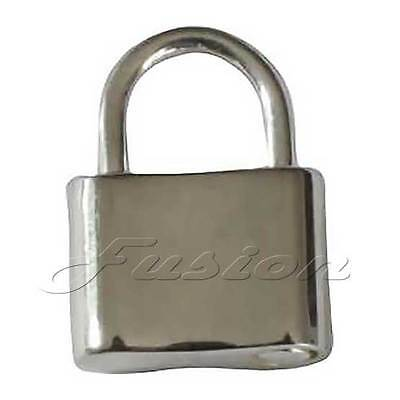 Solid 925 Sterling Silver Small Padlock Fastener Clasp Charm Pendant