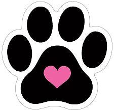 Mini Paw with heart car magnet  ***QUALITY***