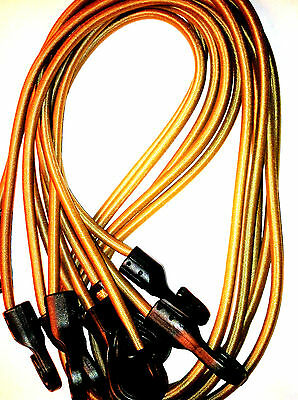 5 Tan Multicam TACTICAL BUNGEE CORDS lightweight USA MADE