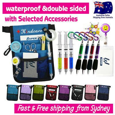 NURSES POUCH WAIST BAG extra pocket QUICK PICK BAG+SYRINGE/KEYRING PEN+ID HOLDER
