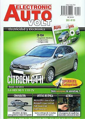 MANUAL DE TALLER CITROEN C4 II 1.6 HDi - 2010  ELECTRICIDAD +CD ROM E115