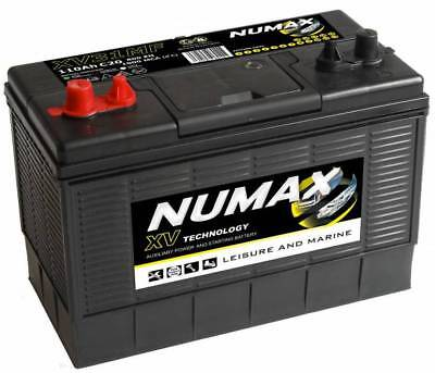12V 110AH Numax XV31MF Super Heavy Duty Ultra Deep Cycle Leisure Marine Battery
