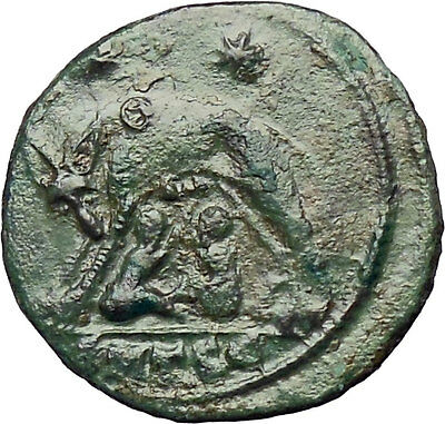 Constantine I The Great 330AD Ancient Roman Coin Romulus & Remus Wolf  i28942