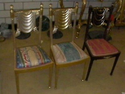 3 x Antique Piano Chairs - Great Deal