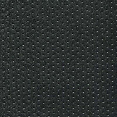 Perforated Black Seating Upholstery Vinyl - By the Yard