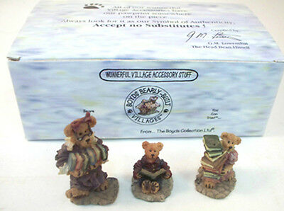 Bailey's Cozy Cottage - Boyds Bearly-Built Villages Accessory Set MIB 19502-1