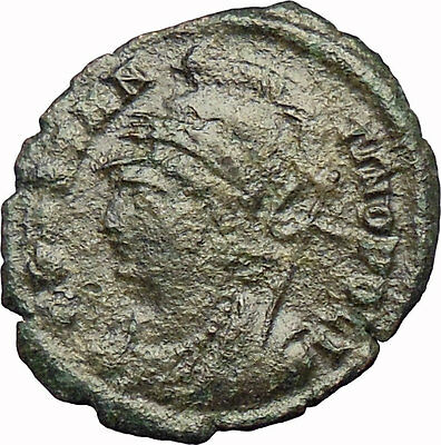 Constantine the Great  Founds CONSTANTINOPLE Ancient Roman Coin Victory  i29047