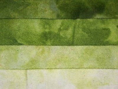 """""""Olive Jade"""" -  hand dyed rug hooking wool fabric - (1) Fat Quarter 100% Wool"""
