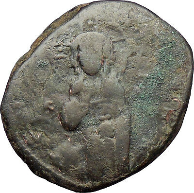 JESUS CHRIST Class C Anonymous Ancient 1034AD Byzantine Follis Coin  i28893