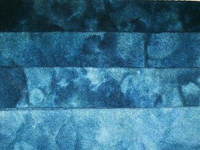 """Sapphire"" -  hand dyed rug hooking wool fabric  (1) Fat Quarter 100% Wool"