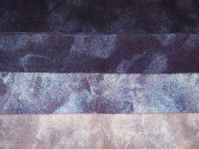 """Iolite"" -  hand dyed rug hooking wool fabric  (1) Fat Quarter 100% Wool"
