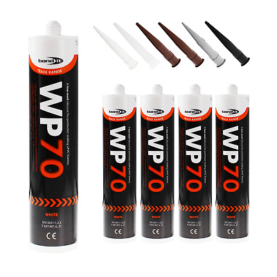 4 x WP70 Silicone Sealant Low Modulus Builders External Windows Doors uPVC Wood