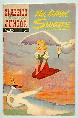 Classics Illustrated Junior #524 March 1956 VG+ The Wild Swans