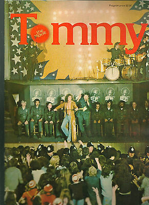 The Who Tommy movie program 1975 original CLASSIC rock opera