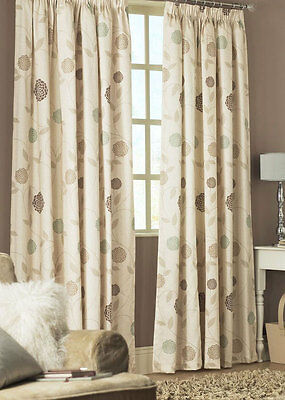 Curtains Rosemont Natural Ready Made Pencil Pleat & Lined