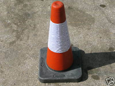 "3 x NEW QUALITY H/DUTY COMPOSITE ROAD CONE 18"" 450MM TRAFFIC CONE ESSEX"