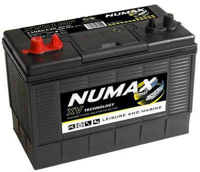 2 X 12V 105AH Deep Cycle Battery Numax XV31MF Leisure Caravan Marine Boat