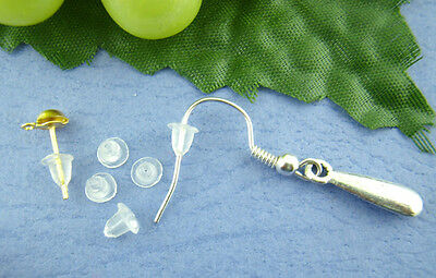 1000PCs Clear Rubber Back Earring Stoppers 5*5mm