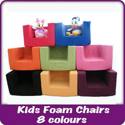Kids Children's Comfy Chair Toddlers Foam Armchair Boys Girls Seating Seat