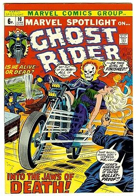 Marvel Spotlight #10: Ghost Rider (Marvel 1973; vf-) 50% off price guide value